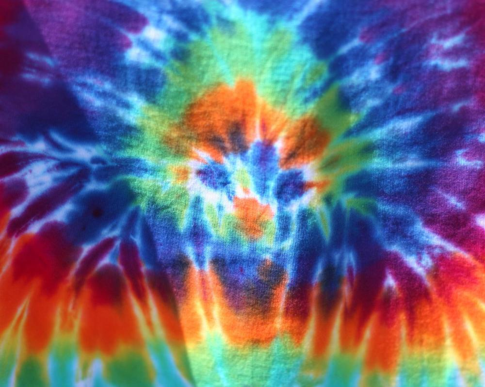 Tie dye was very popular in the 1960s and '70s.