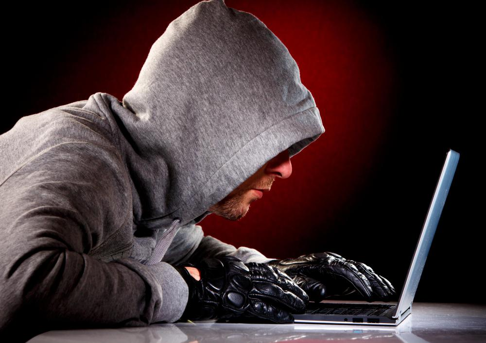 Bank fraud may occur when a hacker steals a person's credit information.
