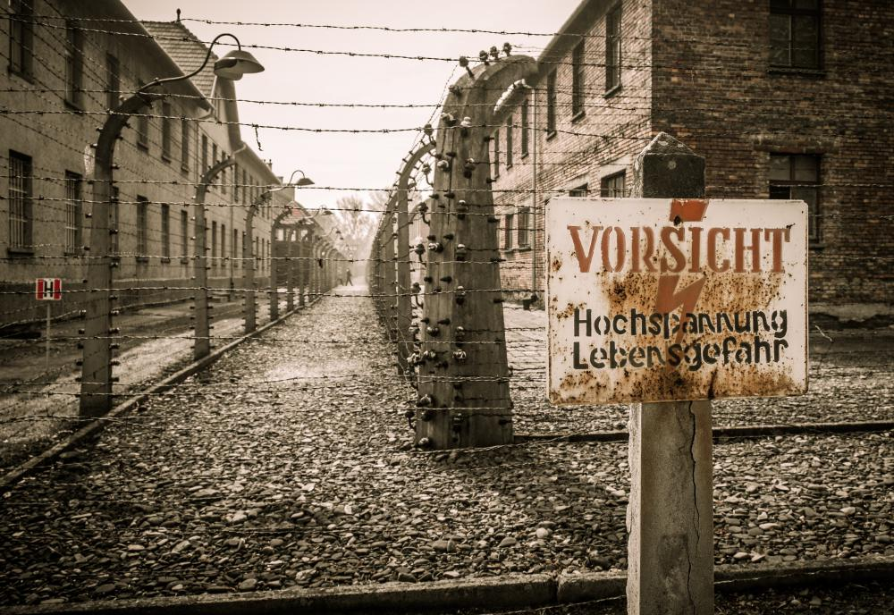 The Nazis forced millions of Jewish people and others into extermination camps during World War II.