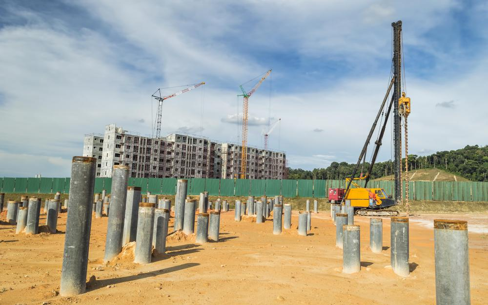 What is a concrete pile with picture for Concrete pilings for house