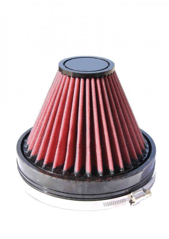 A clean conical air filter.