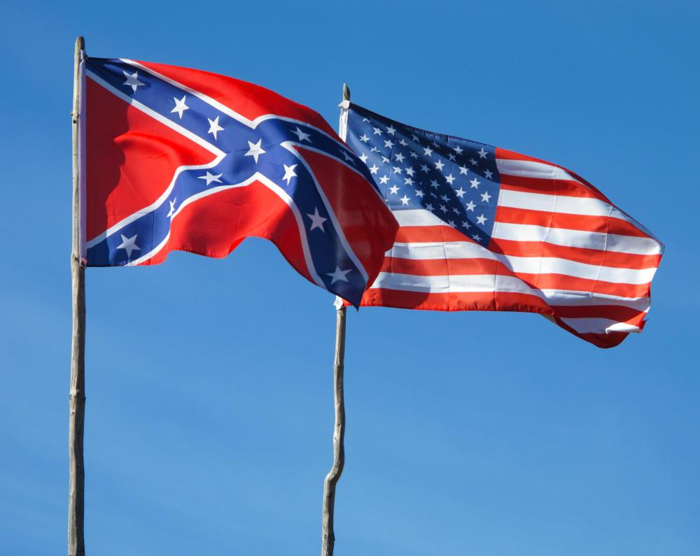 Flags of the opposing sides during the American Civil War.