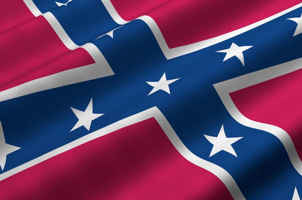 The battle flag used by the Confederacy during the Civil War remains popular in the Southeastern United States.