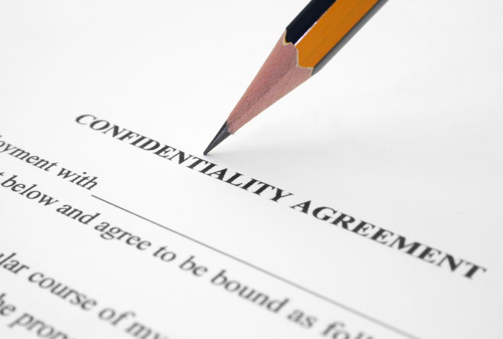 A confidentiality agreement is sometimes signed.