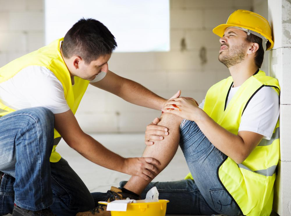 Work-related injuries can be common in the construction industry.