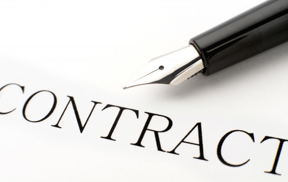 A signed contract is often binding.