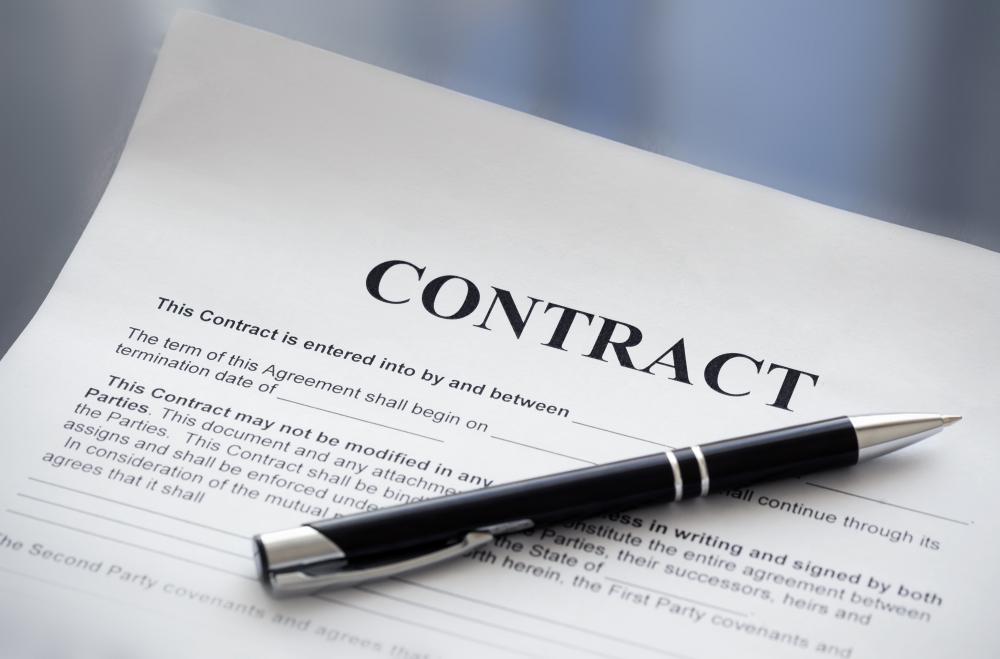 Administration of a contract may include many specific duties.