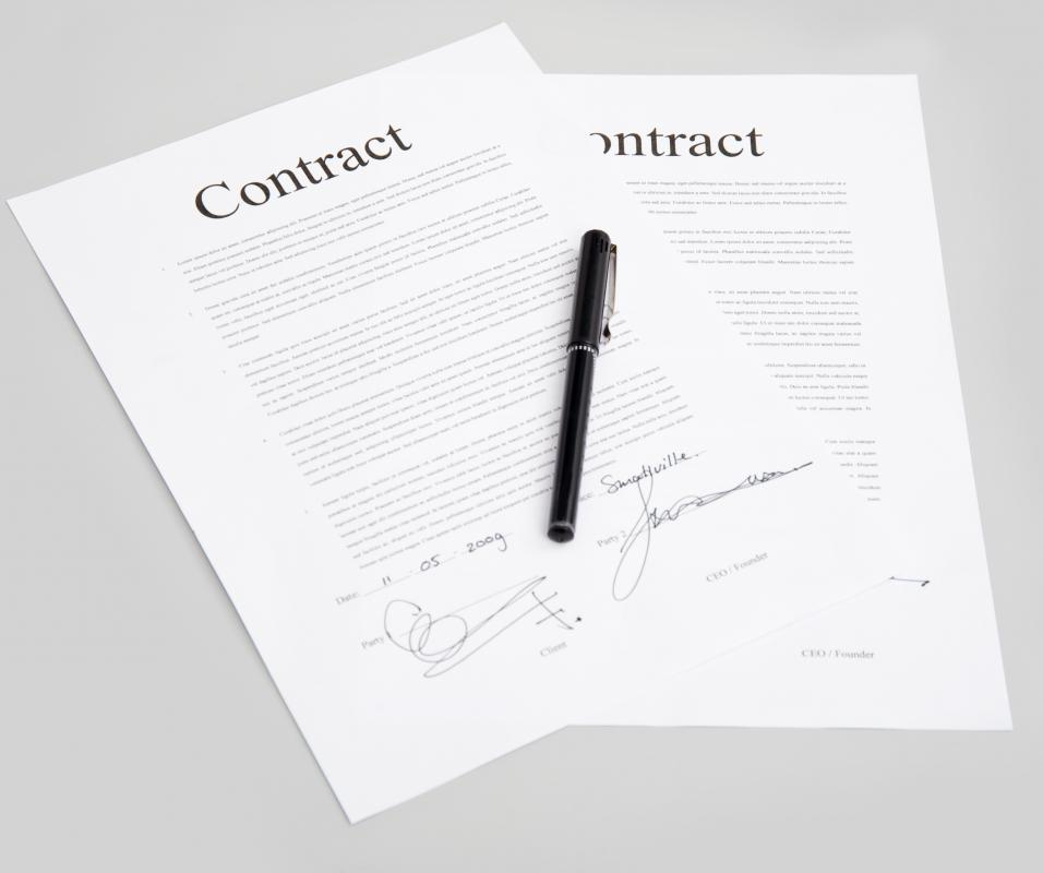 Terms of employment are outlined in a hiring contract.