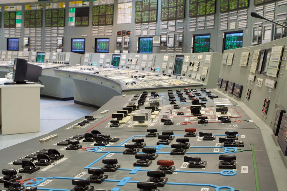 Control center at a nuclear power plant.