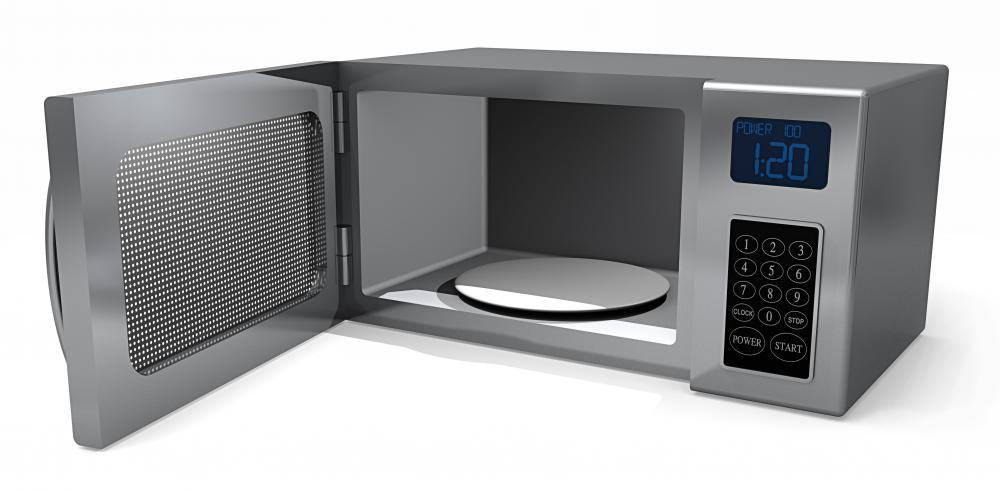 Microwaves heat food with radiant power.