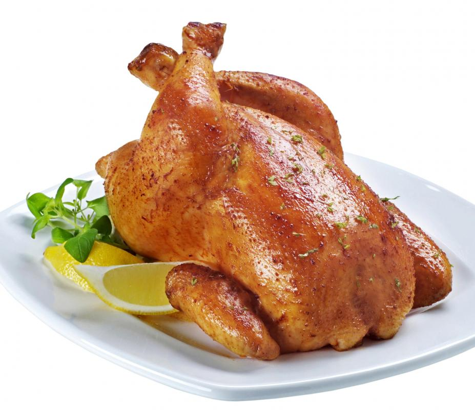 A roast chicken at a steakhouse.