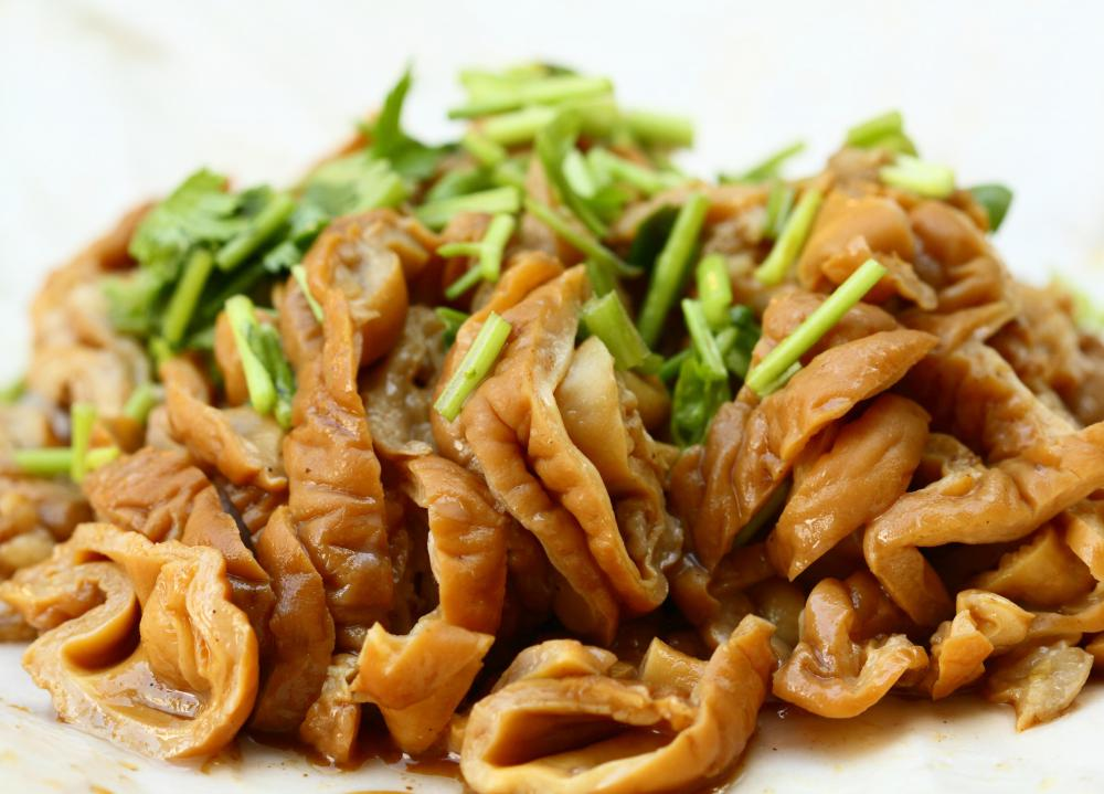 Pig Intestines Cooked