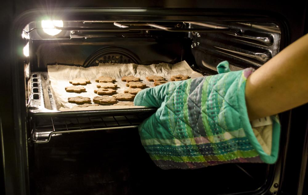 An oven and a baking sheet are essential to the baking process.