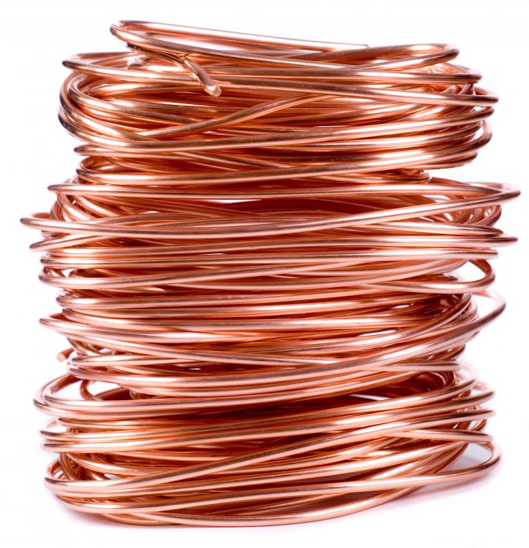 Copper wire for making jewelry.