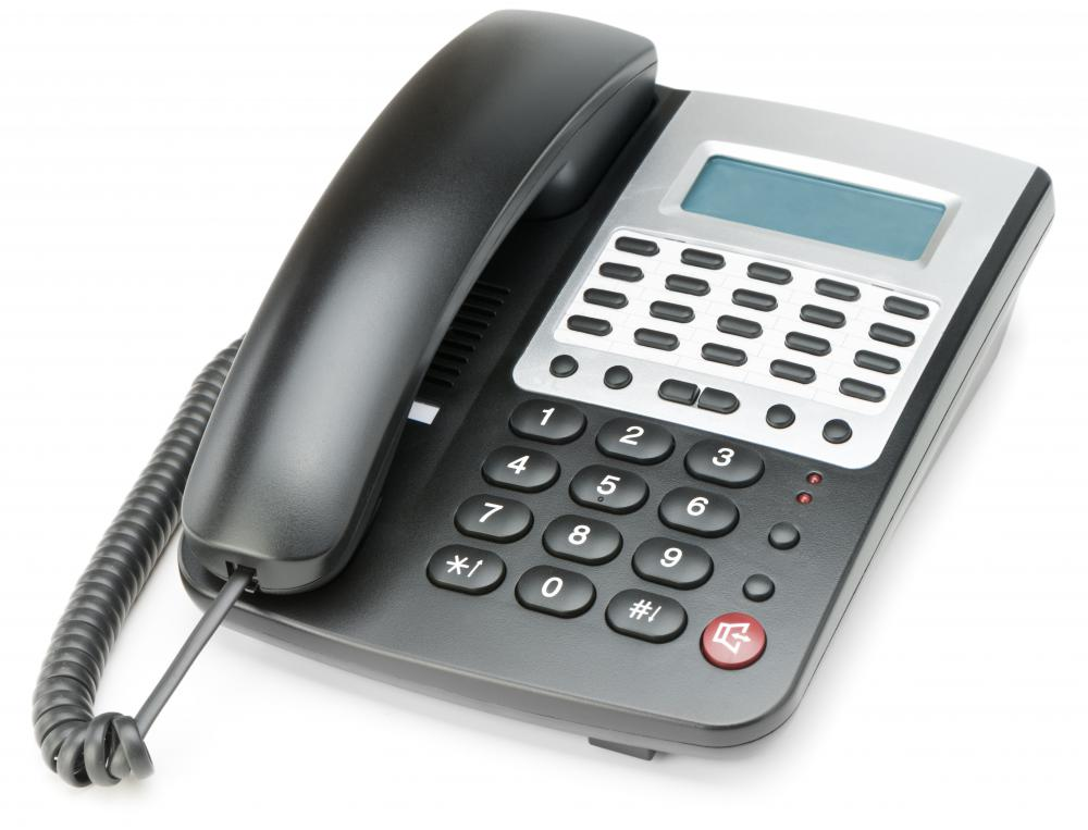 Dial tones are heard on landline telephones prior to dialing a phone number.