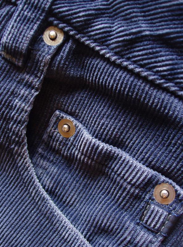 Corduroy is a popular fabric for pants.
