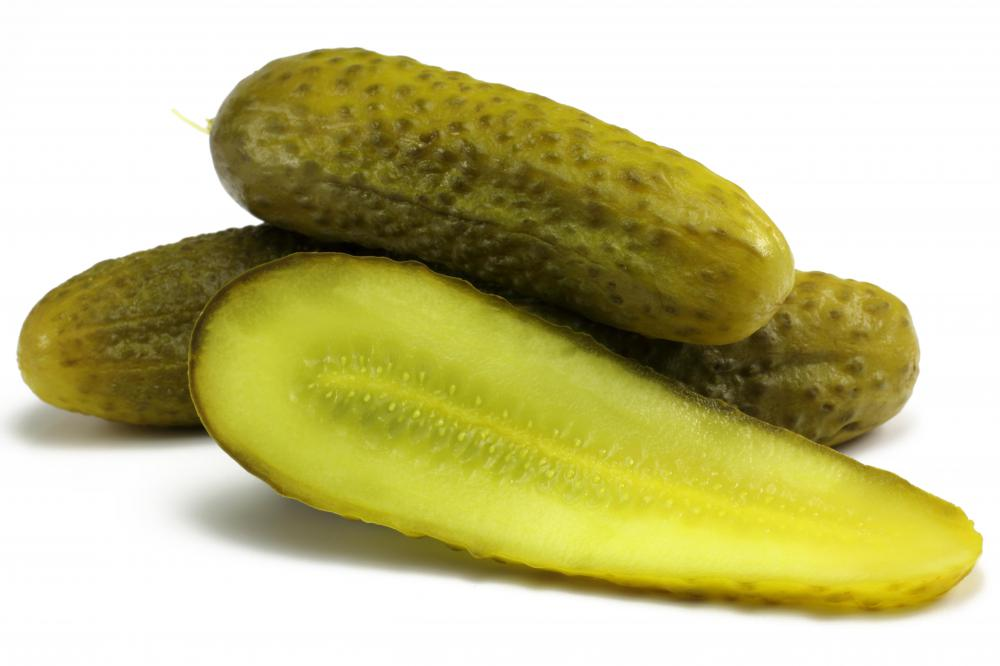 Pickled cucumbers are often used in Salad Olivier.