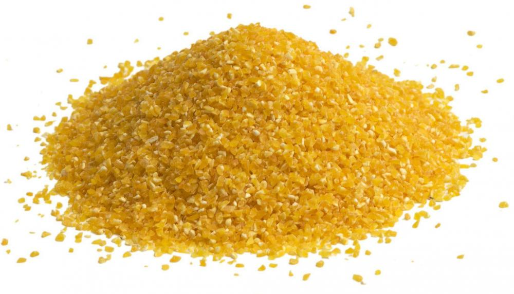 Cornmeal, the main ingredient in polenta.