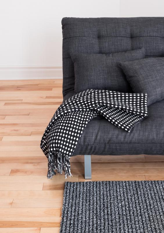 New blankets or throws may help change the look of a room.