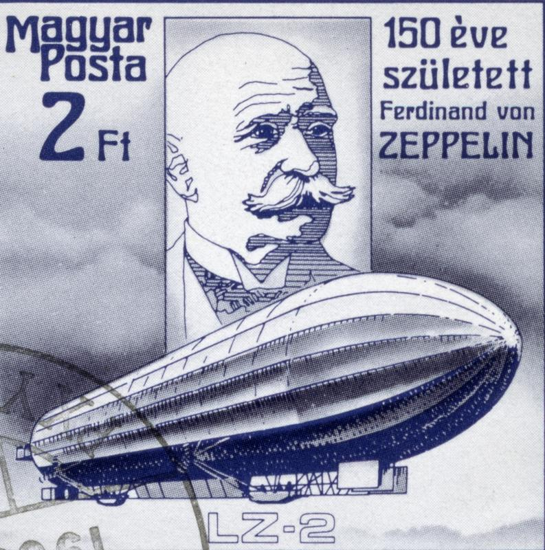 Count Ferdinand von Zeppelin was a pioneer in rigid dirigible design.