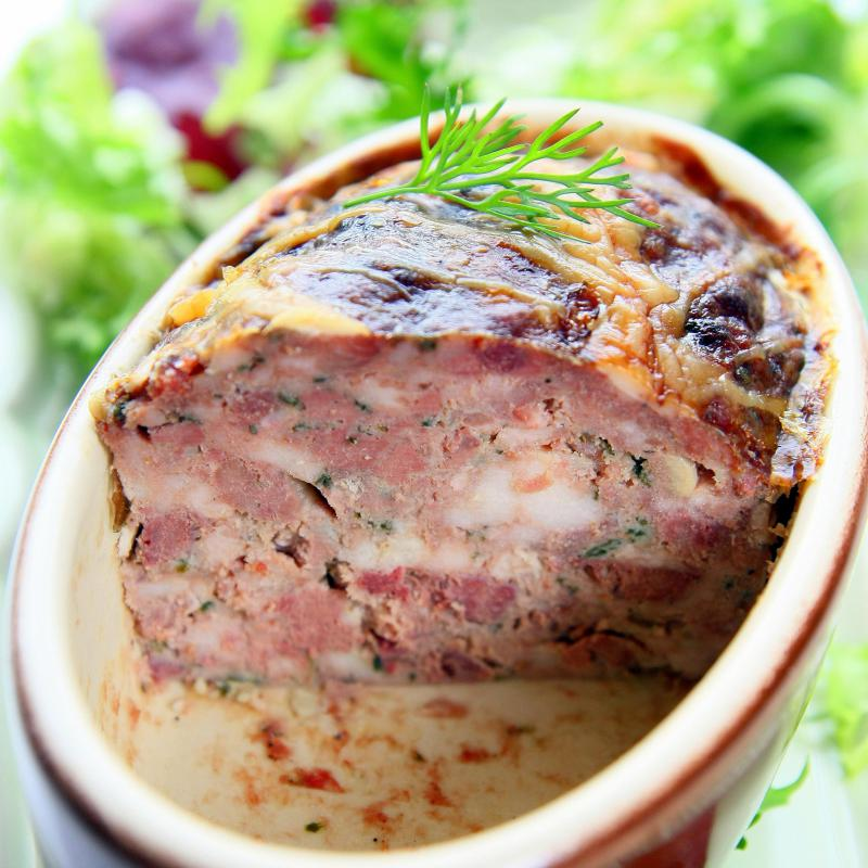 Terrine is a common French appetizer.