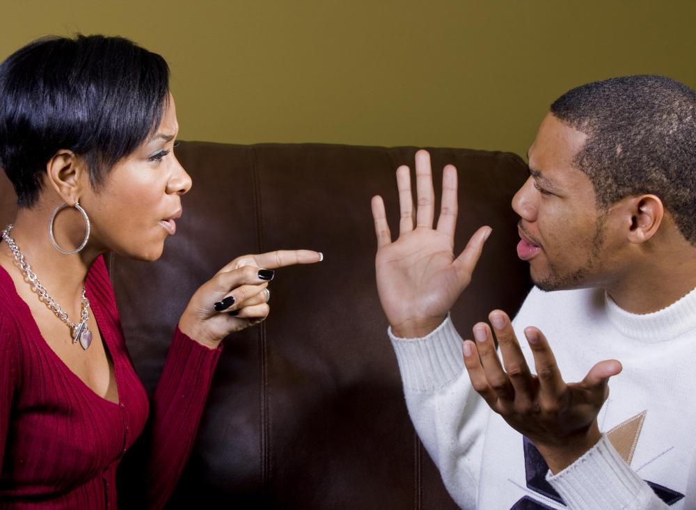 Couples that can't reach a compromise on an issue may end up arguing it out.
