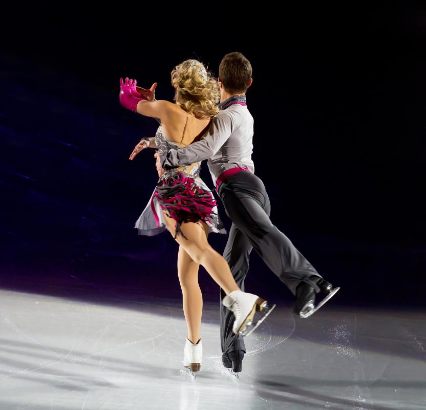 Ice dancing is a type of ballroom dancing that takes place on the ice.