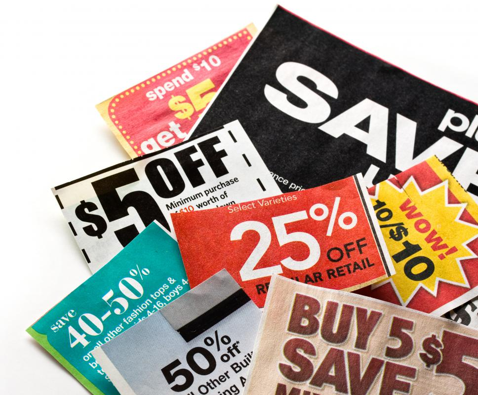 Coupons are an easy way to save money at the grocery store.