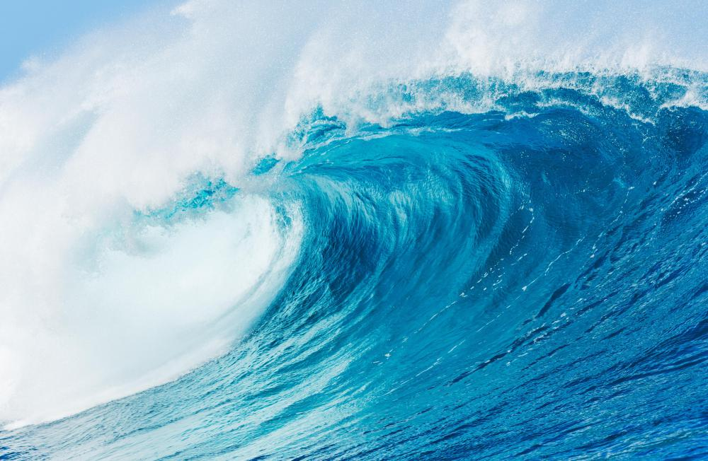 Ocean waves generate infrasound, a slow periodic rumbling.