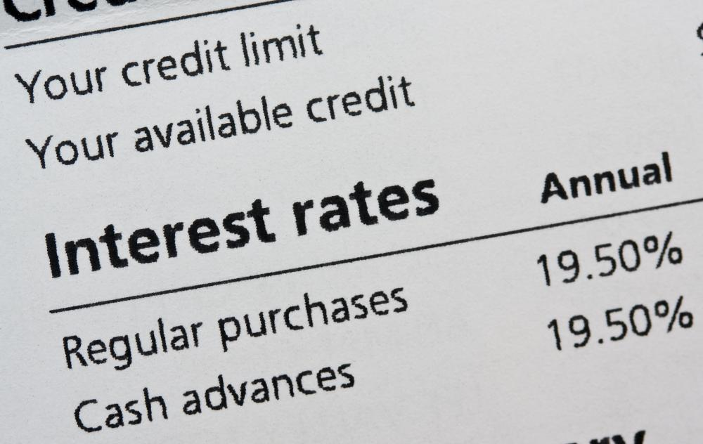 An interest rate on a credit card may some times be frozen if the account is closed.