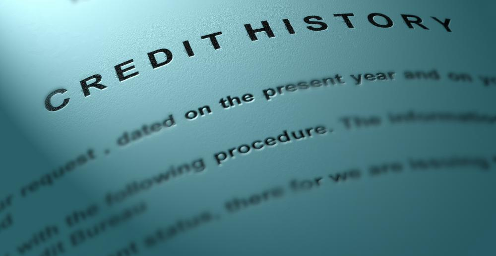A bond underwriter will take into account the credit history of a client.