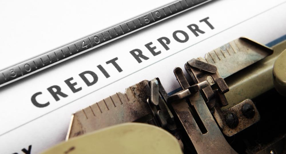 Credit underwriters evaluate an individual's credit report when considering a credit application.