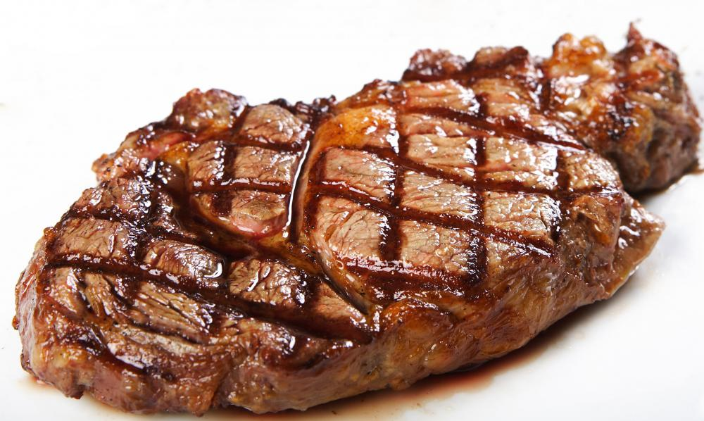 Red meat contains a lot of protein.