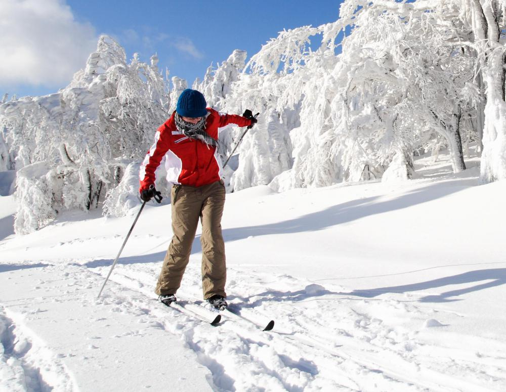 Cross country skiing is available in winter in Acadia National Park.