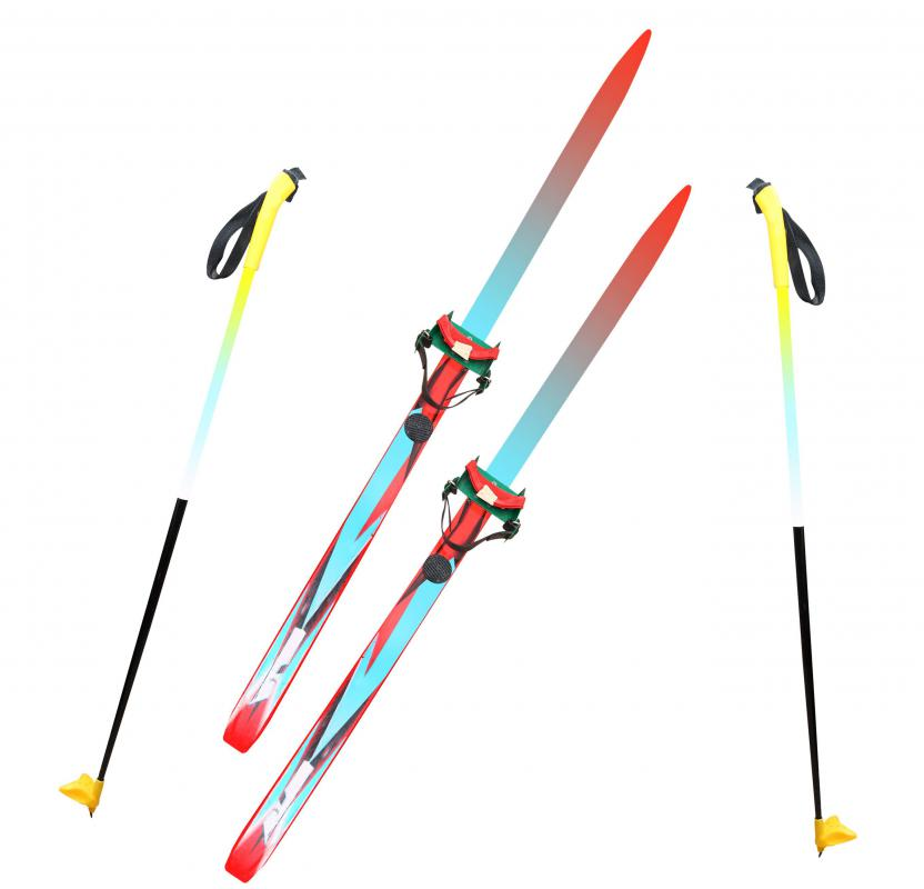 Cross-country skis allow the skiier's heel to move more freely than downhill skis do.