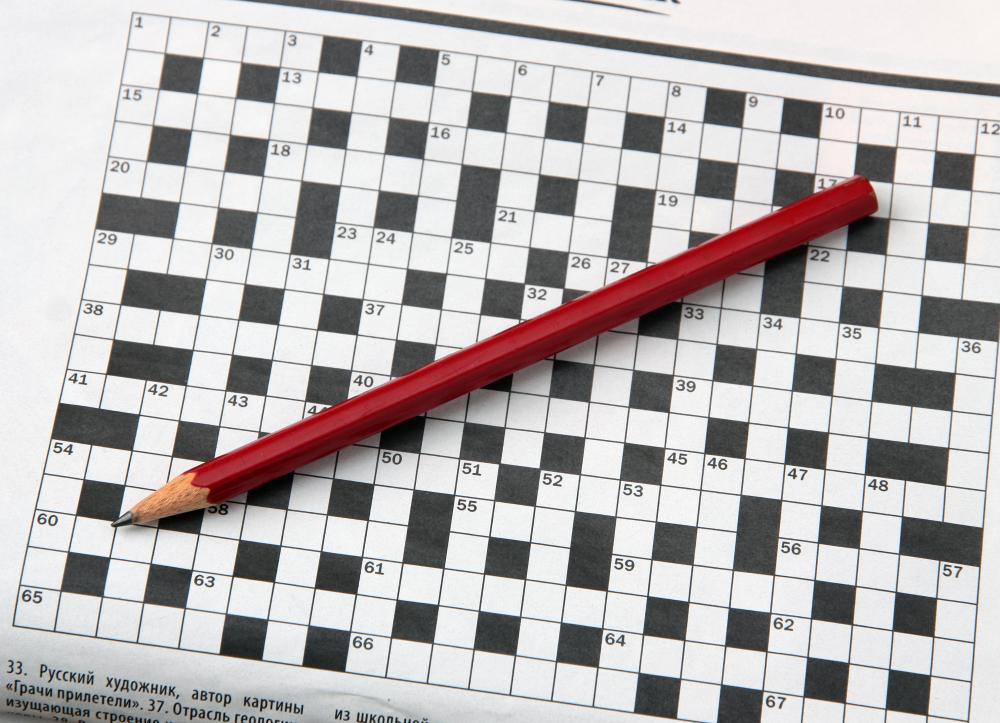 Crossword puzzles are good for mental exercise.