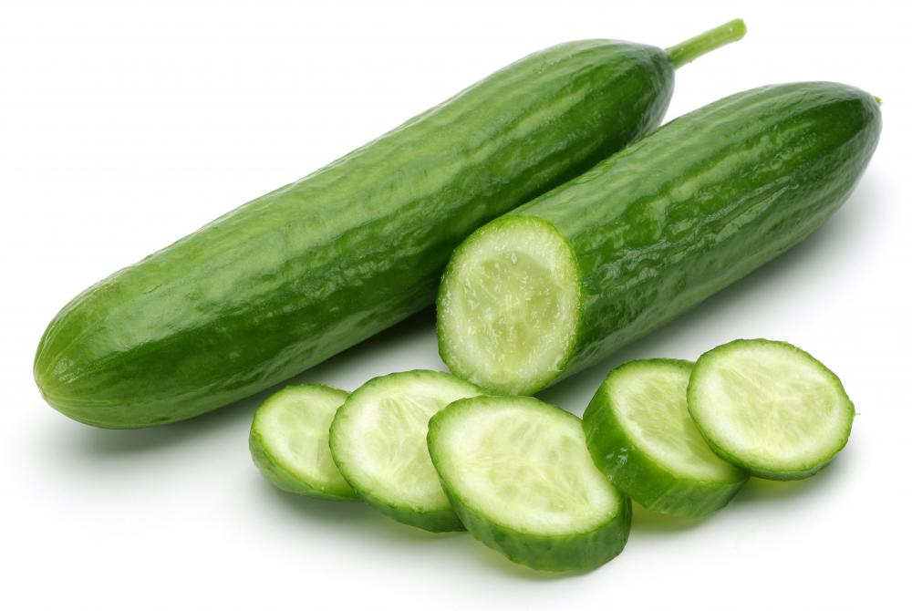 Seeds are less noticeable in English cucumbers than in slicing varieties.