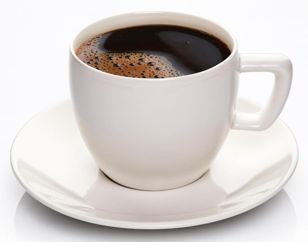 Black coffee is a popular Peruvian breakfast beverage.
