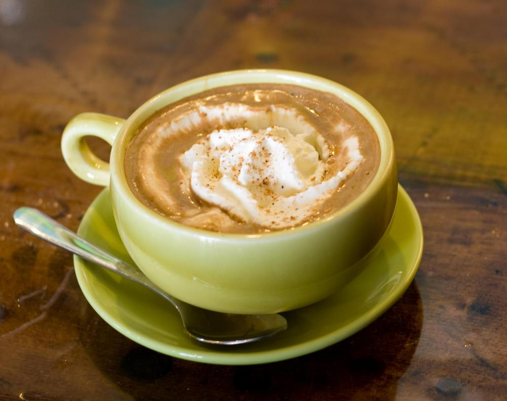 Lattes, popular during the winter, are high in calories.