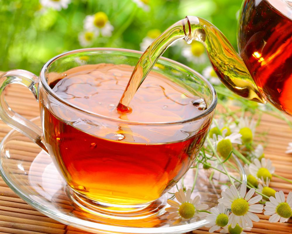 Chamomile tea can be brewed and applied to lighten hair.