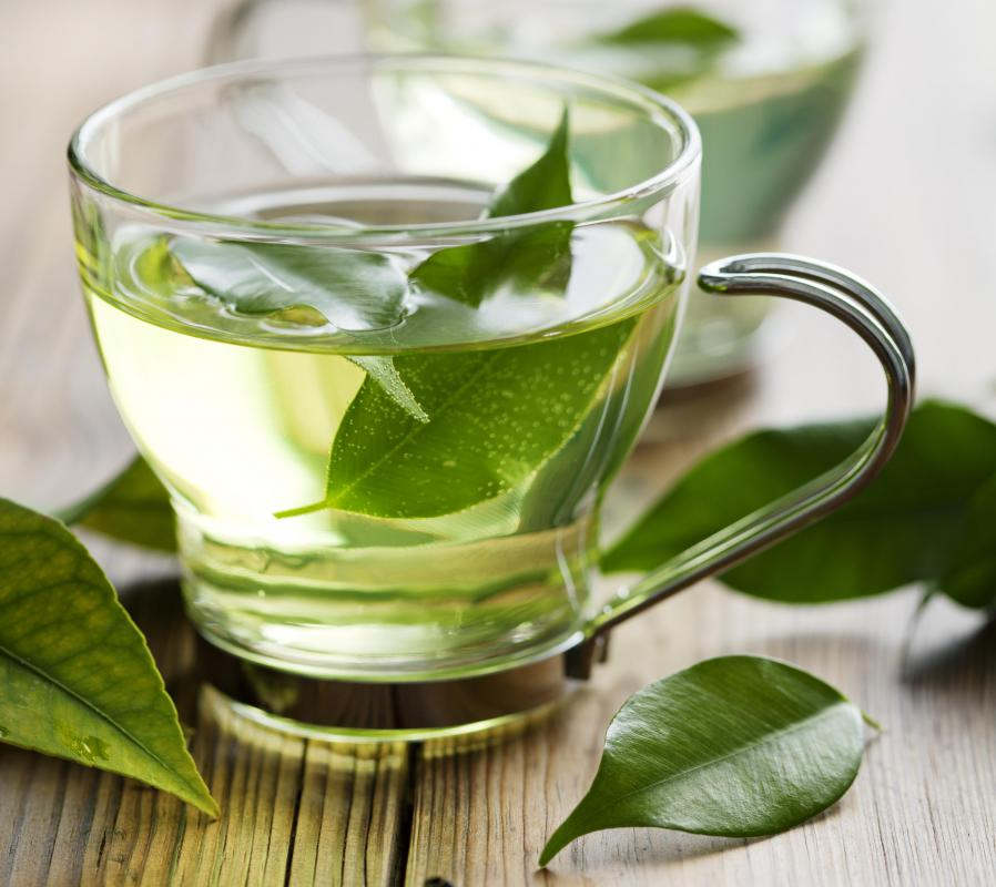 Green tea is used to make taro tea.