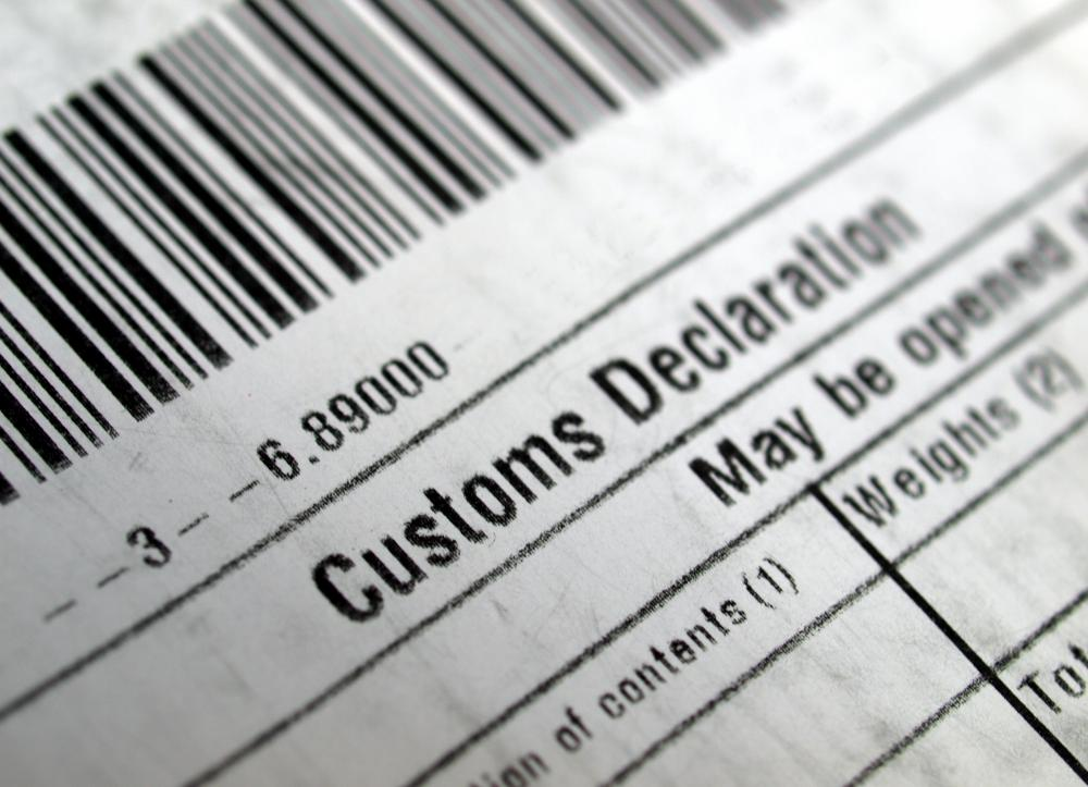 Packages shipped domestically do not require customs declarations forms.
