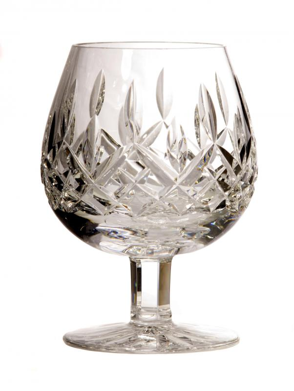 Cut glass pieces are very thick, and may be clear or colored.