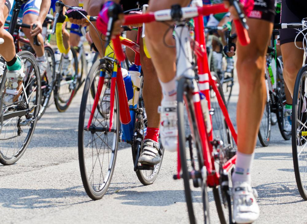 A peloton is the main group of cyclists in a race.