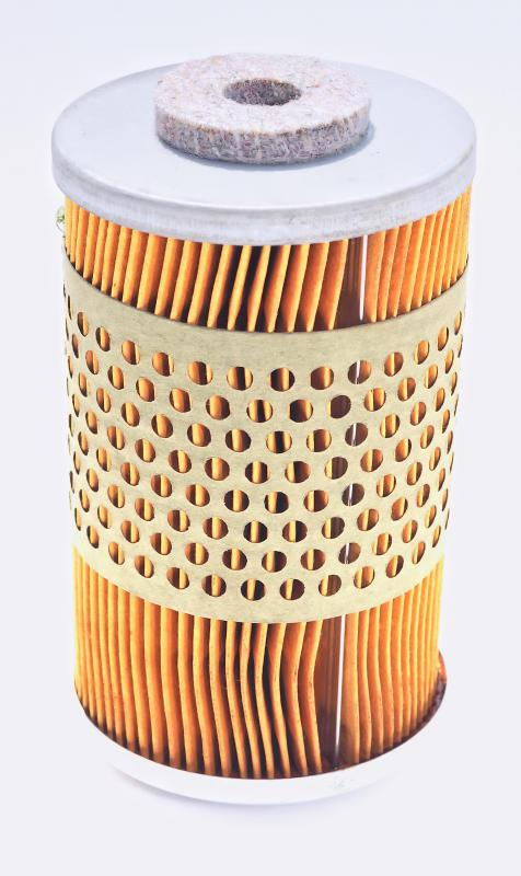 A clean cylindrical air filter.