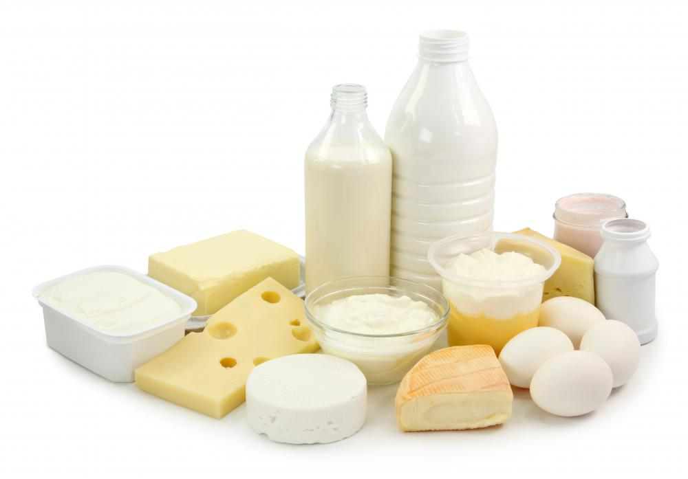 Dairy products and eggs.