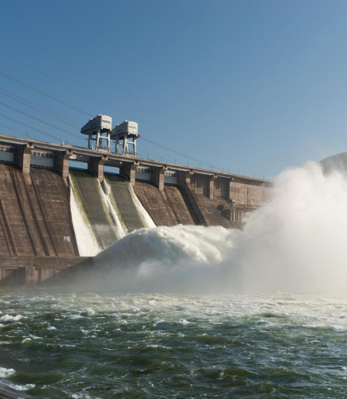 Efficiency and clean production are some advantage of hydropower.