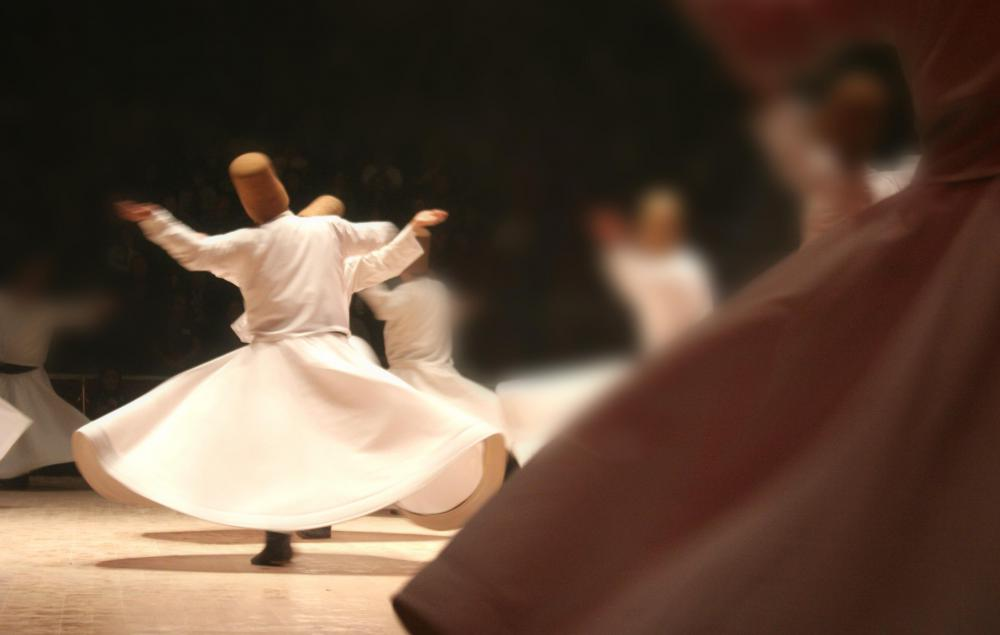 Sufi mystics dance themselves into an ecstatic state.