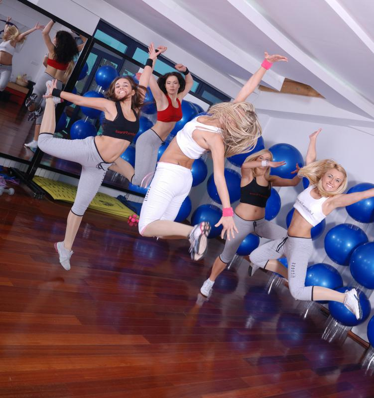 Some aerobics classes combine exercise with another activity, such as dancing.