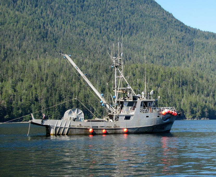 A commercial fishing boat.
